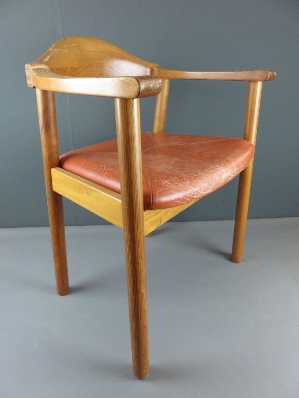 Vintage denmark form 75 design chair stuhl holz mit for Stuhl design 60er
