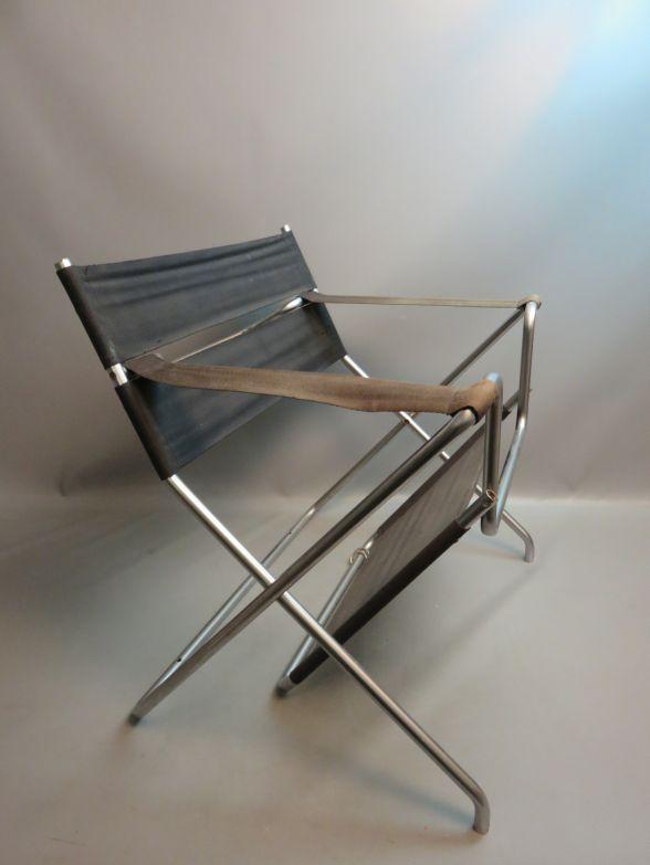 vintage designer klappstuhl bauhaus design marcel breuer. Black Bedroom Furniture Sets. Home Design Ideas