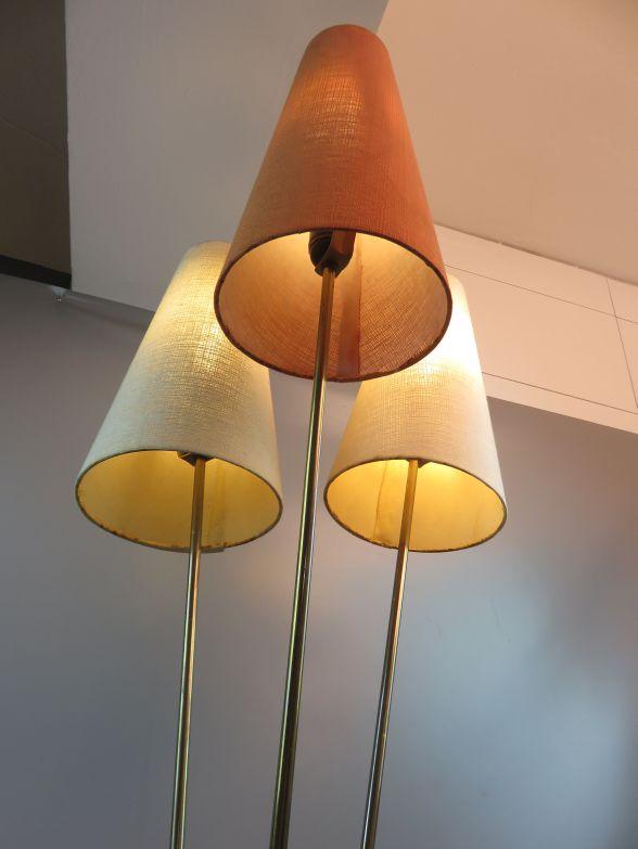40er 50er jahre rockabilly stehlampe t tenlampe mit 3 lampenschirme ebay. Black Bedroom Furniture Sets. Home Design Ideas