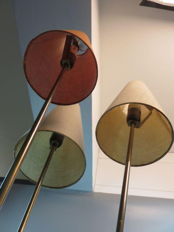 40er 50er jahre rockabilly stehlampe t tenlampe mit 3. Black Bedroom Furniture Sets. Home Design Ideas
