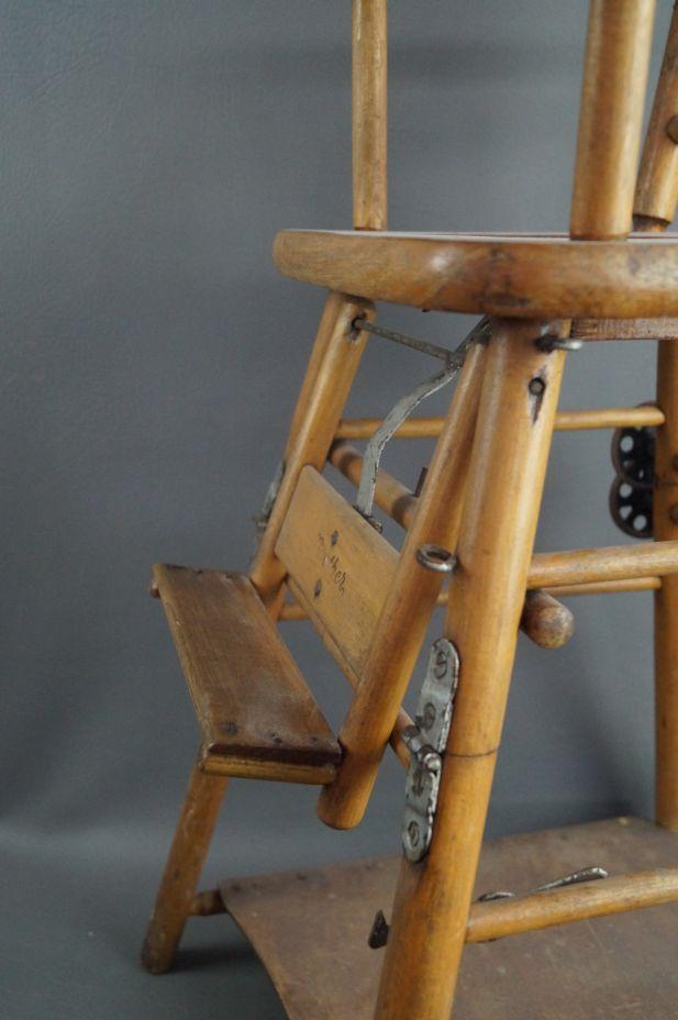 antiker kinder holz hochstuhl verwandelbar zum spieltisch um ca 1900 ebay. Black Bedroom Furniture Sets. Home Design Ideas