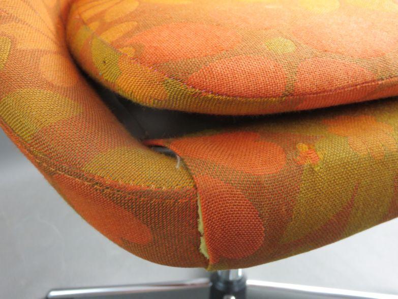 original 70er flower power clubsessel blumen stoff space age schalensessel ebay. Black Bedroom Furniture Sets. Home Design Ideas