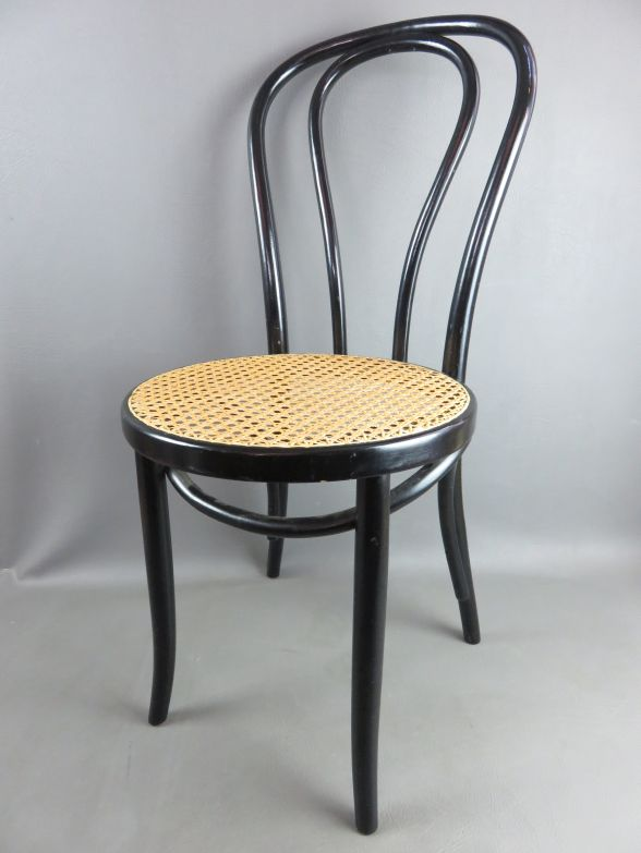 alter kaffeehausstuhl bugholz thonet mit geflecht ebay. Black Bedroom Furniture Sets. Home Design Ideas