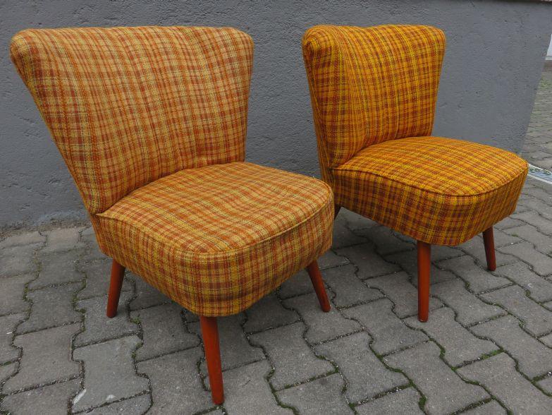 2 cocktail sessel 50er mid century rockabilly cocktailsessel chair 50 s ddr ebay. Black Bedroom Furniture Sets. Home Design Ideas