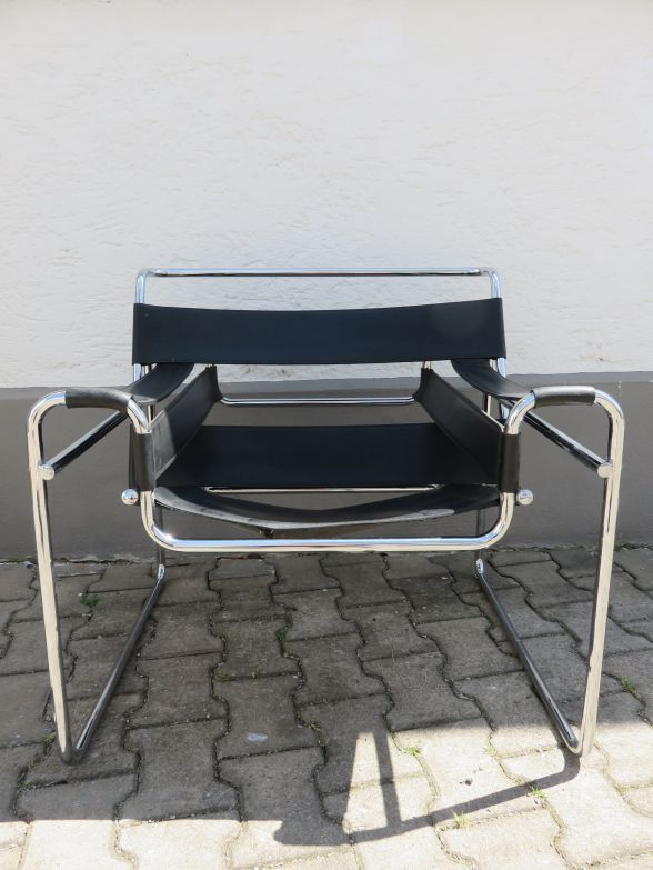 Marcel breuer sessel wassily chair stahlrohrm bel design for Sessel bauhaus klassiker
