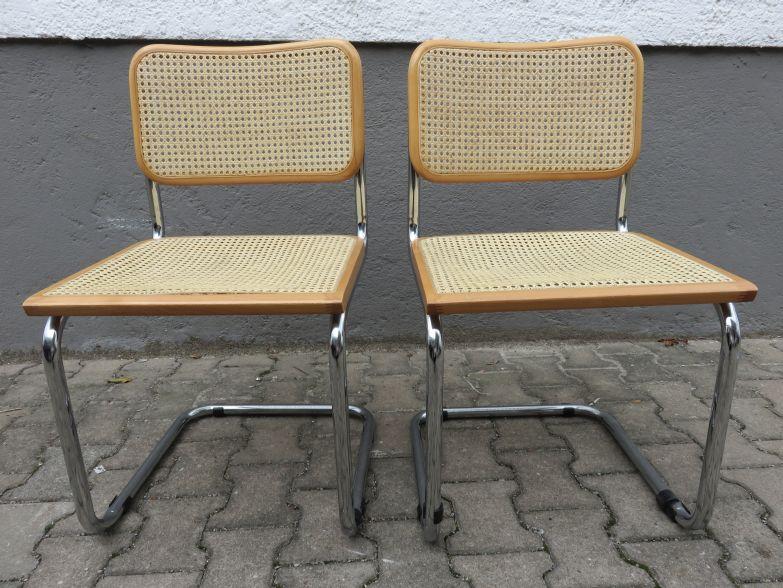 2x freischwinger im thonet stil geflecht made in italy ebay. Black Bedroom Furniture Sets. Home Design Ideas
