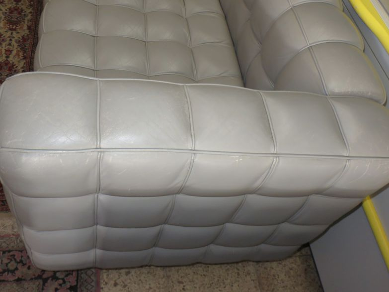 mch original wittmann josef hoffmann kubus loveseat couch leder ebay. Black Bedroom Furniture Sets. Home Design Ideas